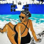 En attendant Irma Strange paradise SXM Paysage X 120X80cm Acrylique sur Carton